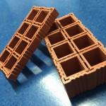 Stampa di mattoncini con filamento in terracotta