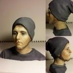 ritratto 3d realizzato scansionando e stampa 3d, poi dipinto a mano