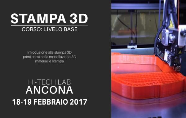 Corso stampa 3D: livello base.